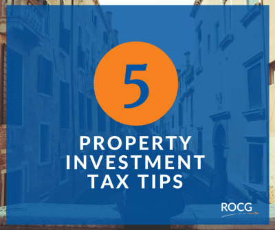 5 Property investment tax tips
